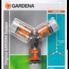 Набір: 3 конектори 13мм (1/2″) з трійником GARDENA (18287-20)