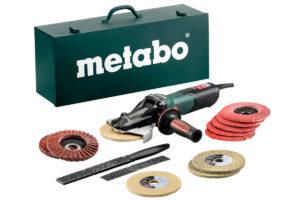 Кутові шліфувальні машині з плоским корпусом редуктора METABO WEVF 10-125 Quick Inox Set (613080500)