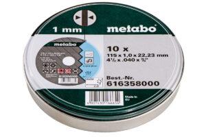 10 відрізних дисків «SP» 115×1,0x22,23 Inox, TF 41 (616358000)METABO