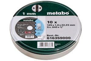 10 відрізних дисків «SP» 125×1,0x22,23 Inox, TF 41 (616359000)METABO