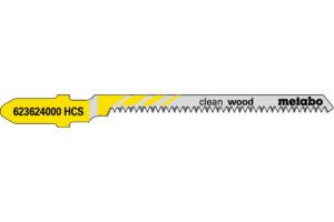 25 пилкових полотен Metabo для лобзиків «clean wood». 57/ 1.4 мм (623624000)