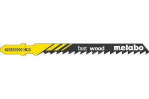 100 пилкових полотен Metabo для лобзиків «fast wood». 74/ 4.0 мм (623712000)