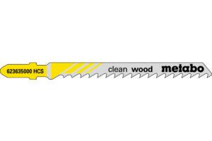 25 пилкових полотен Metabo для лобзиків «clean wood». 74/ 4.0 мм (623609000)