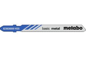 25 пилкових полотен Metabo для лобзиків «basic metal». 66/ 0.7 мм (623693000)