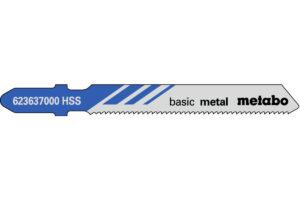 25 пилкових полотен Metabo для лобзиків «basic metal». 51/ 1.2 мм (623692000)