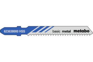 25 пилкових полотен Metabo для лобзиків «basic metal». 51/2.0 мм (623618000)
