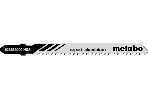 25 пилкових полотен Metabo для лобзиків «expert aluminium». 74/3.0 мм (623622000)