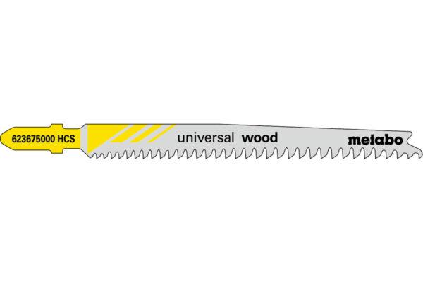 25 пилкових полотен Metabo для лобзиків «universal wood». 91 мм/progr. (623617000)