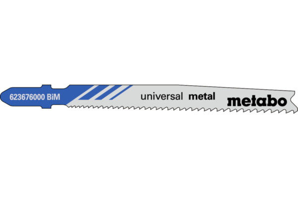 25 пилкових полотен Metabo для лобзиків «universal metal». 74 мм/progr. (623620000)