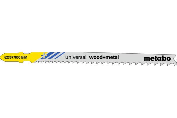 25 пилкових полотен Metabo для лобзиків «universal wood + metal». 106 мм/progr. (623621000)