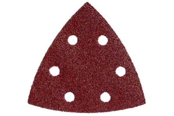 5 шліфувальних листів Metabo на липучках 93×93 мм, P 240, Д+М, DS (624946000)