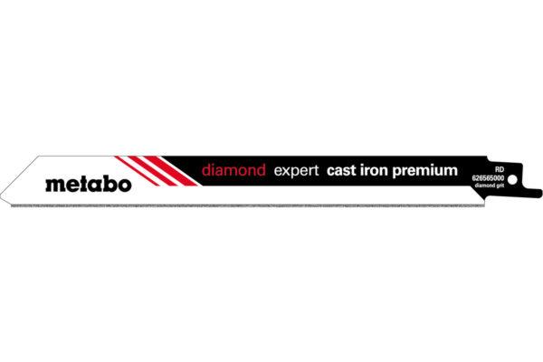 2 пилкових полотна Metabo для шабельних пилок «expert cast iron premium». 200/ 1.0 мм (626565000)