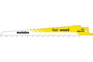2 пилкових полотна Metabo для шабельних пилок «fast wood». 150 x 1.25 мм (628240000)