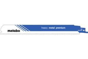 2 пилкових полотна Metabo для шабельних пилок «heavy metal premium». 225 x 0.9 мм (628258000)