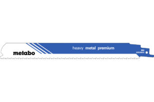 2 пилкових полотна Metabo для шабельних пилок «heavy metal premium». 225 x 1.1 мм (628269000)