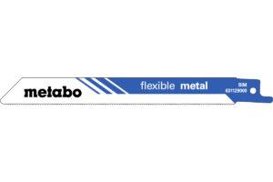 2 пилкових полотна Metabo для шабельних пилок «flexible metal». 150 x 0.9 мм (631129000)