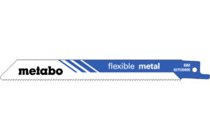 2 пилкових полотна Metabo для шабельних пилок «flexible metal». 150 x 0.9 мм (631130000)