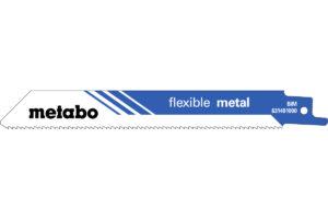 100 пилкових полотен Metabo для шабельних пилок «flexible metal». 150 x 0.9 мм (625491000)