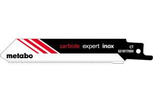 2 пилкових полотна Metabo для шабельних пилок «expert inox». 115/ 1.25 мм (631817000)