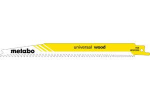 2 пилкових полотна Metabo для шабельних пилок «universal wood». 200 x 1.25 мм (631910000)