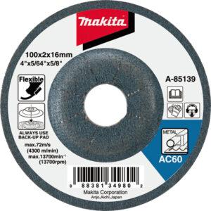 Гнучкий шліфувальний диск 100х2  120Т по металу MAKITA B-18225