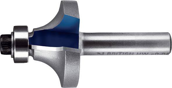 Фреза для заокруглення кутів з підшипниками Т.С.Т. R9,5 мм хвостовик 8 мм MAKITA P-78900