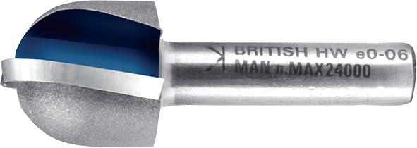 Фреза для фрезерування радіусних заглиблень з двома канавками R10 мм хвостовик 8 мм MAKITA P-78944