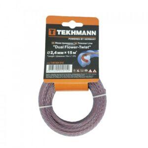 Волосінь для садових триммеров Tekhmann «Dual flower-twist» 2,4 мм х 15 м TEKHMANN