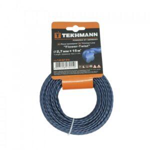 Волосінь для садових триммеров Tekhmann «Flower-twist» 2,7 мм х 15 м TEKHMANN