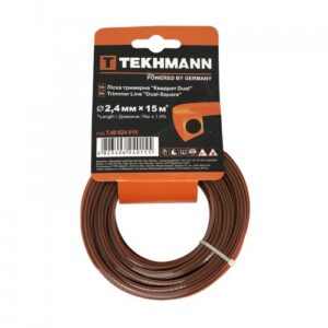 Волосінь тріммерная Tekhmann «Квадрат dual» 2,4 мм х 15 м TEKHMANN