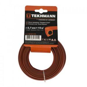 Волосінь тріммерная Tekhmann «Квадрат dual» 2,7 мм х 15 м TEKHMANN