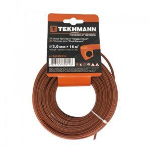 Волосінь тріммерная Tekhmann «Квадрат dual» 3,0 мм х 15 м TEKHMANN