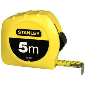 Рулетка вимірювальна GLOBAL TAPE довжиною 5 м, шириною 19 мм, в пластмасовому корпусі STANLEY 0-30-497