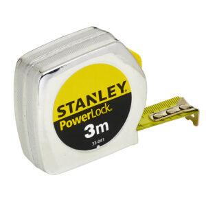 Рулетка вимірювальна Powerlock® довжиною 3 м, шириною 19 мм в хромованому пластмасовому корпусі STANLEY 0-33-041