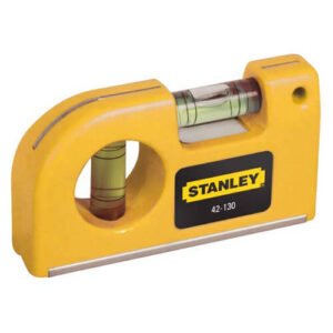 Рівень Pocket Level кишеньковий, пластиковий довжиною 87 мм з двома капсулами і магнітами STANLEY 0-42-130