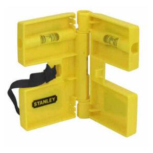 Рівень POST LEVEL для установки стійок, пластиковий з трьома капсулами і магнітами STANLEY 0-47-720