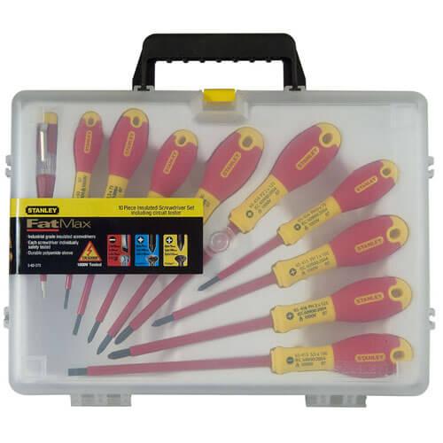 Набір з десяти ізольованих викруток для електриків FatMax VDE 1000V STANLEY 0-62-573 STANLEY