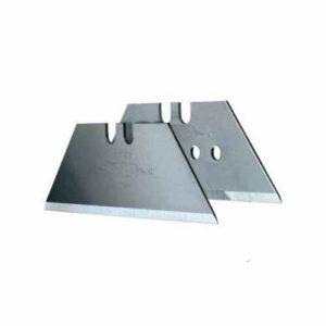 Леза запасні для оздоблювальних робіт, трапецевідние тисяча дев'ятсот дев'яносто дві з отворами, довжиною 62 мм, шириною 19 мм, товщиною 0.65 мм, 100 штук STANLEY 1-11-916 STANLEY