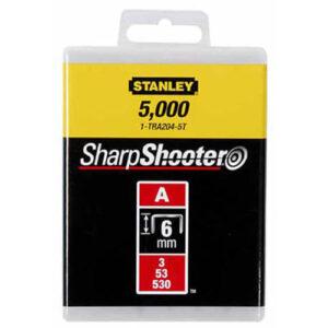 Скоби тип А висотою 6 мм, для степлера ручного Light Duty, в упаковці 1000 шт STANLEY 1-TRA204T