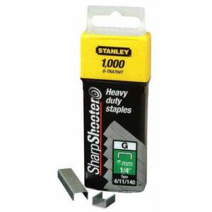 Скоби тип G висотою 6 мм для степлера Heavy Duty, в упаковці 1000 шт STANLEY 1-TRA704T