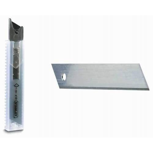 Леза запасні шириною 18 мм з сегментами, що відламуються для ножів з висувними лезами, 50 штук STANLEY 3-11-301 STANLEY