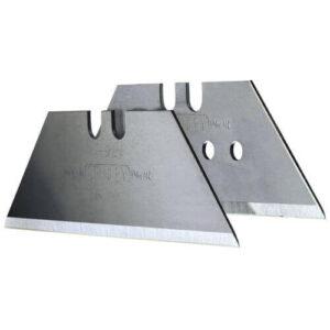Леза запасні для оздоблювальних робіт, трапецевідние тисячу дев'ятсот дев'яносто дві з отворами, довжиною 62 мм, шириною 19 мм, товщиною 0.65 мм, 400 штук STANLEY 4-11-921 STANLEY