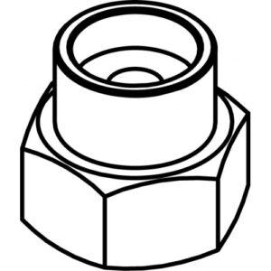 адаптер M8x1,25 LH.F. TECOMEC