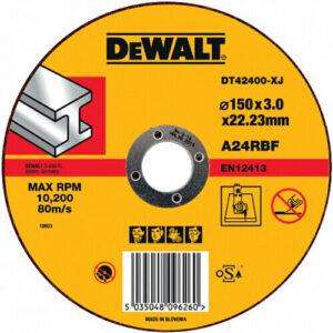 Круг відрізний по металу, 150х3х22.23 мм, DeWALT DT42400 DeWALT