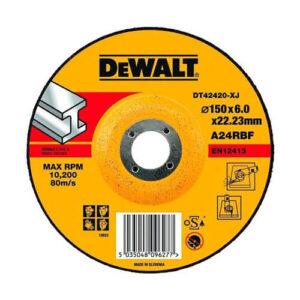 Коло шліфувальний по металу, 150х6х22.23 мм, DeWALT DT42420 DeWALT