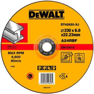 Коло шліфувальний по металу, 230 х 6,3 х 22,23 мм, DeWALT DT42620 DeWALT