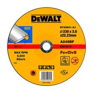 Круг відрізний INOX по нержавіючої сталі, 230х3х22.23 мм, DeWALT DT42641 DeWALT