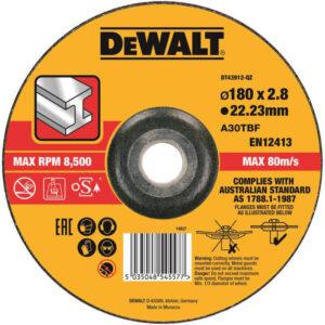Круг відрізний по металу, 180 х 2.8 х 22.23 мм, DeWALT DT43912 DeWALT