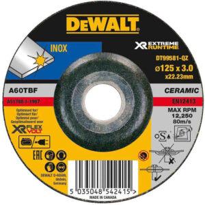 Коло шліфувальний по металу XR INOX 125 х 3 х 22.23 мм DeWALT DT99581 DeWALT