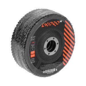 Круг пелюстковий торцевий Dnipro-M Р100, 5 шт/уп конусна, 125 х 22,2 мм Р100 ДНІПРО-М